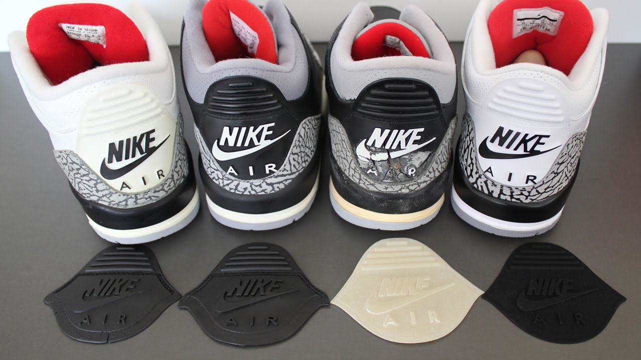 jordan 3 nike air tab replacement