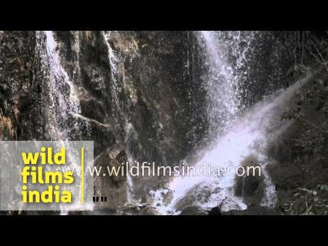 Waterfall on way to Yamunotri Temple in Uttarakhand