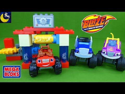 Blaze and the Monster Machines Mega Bloks Toys Sets Truck Car Wash Construction Blaze Mashup Toys