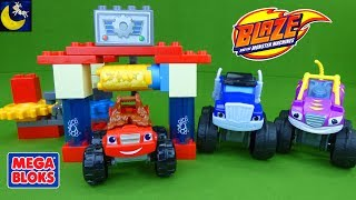 Blaze and the Monster Machines Mega Bloks Toys Sets Truck Car Wash Construction Blaze Mashup Toys