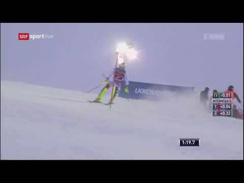 Daniel Yule 2nd run Men's Slalom - Levi FIS Alpine Skiing World Cup 2017