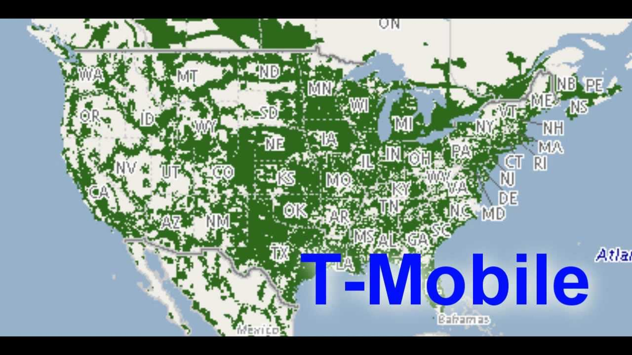 Compare Cell Phones Best Coverage Plans TMobile Vs Top Secret - Cell phone carrier coverage map