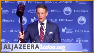 🇺🇸Conservative Christian group shows support for Kavanaugh in DC l Al Jazeera English