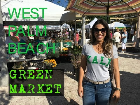 Feira Green Market de West Palm Beach na Florida
