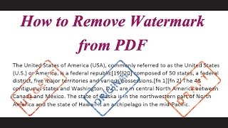 How Remove Watermark Pdf
