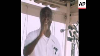 SYND 13 9 77 PRESIDENT KAUNDA SPEECH AT RALLY IN LUSAKA