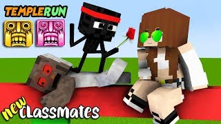 MONSTER SCHOOL : NEW CLASSMATES! (FUNNY TEMPLE RUN) - MINECRAFT ANIMATION