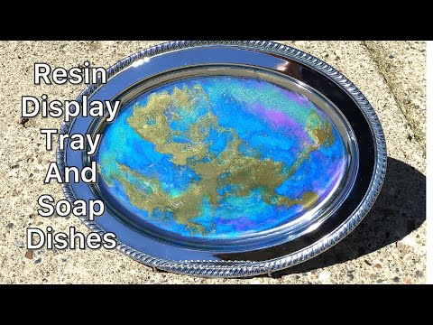 Resin Display Tray-Soap Dish Trays With FX Countertop Epoxy, Ph Martins Inks, And ArtTree Creations