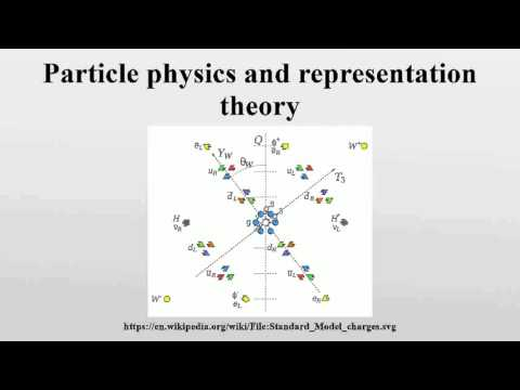 Particle physics and representation theory
