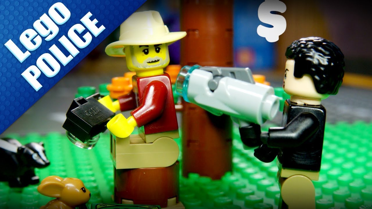 Lego Stop Motion - What happen if A ROBBER accidentally robbed A POLICEMAN | Sen Vang Kids