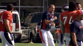 Peyton Manning dances to
