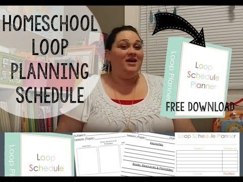 Homeschool Loop Schedule Planning & More | Free Download | Homeschool