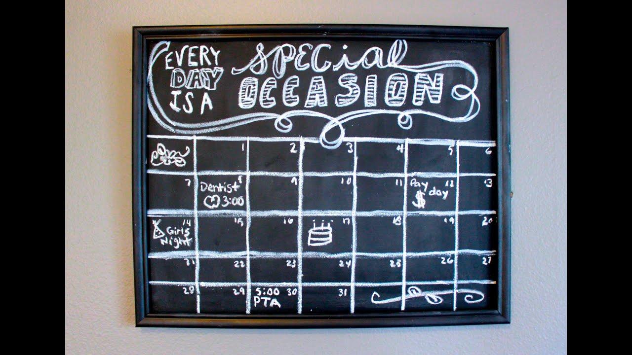 Chalk Calendar Paint