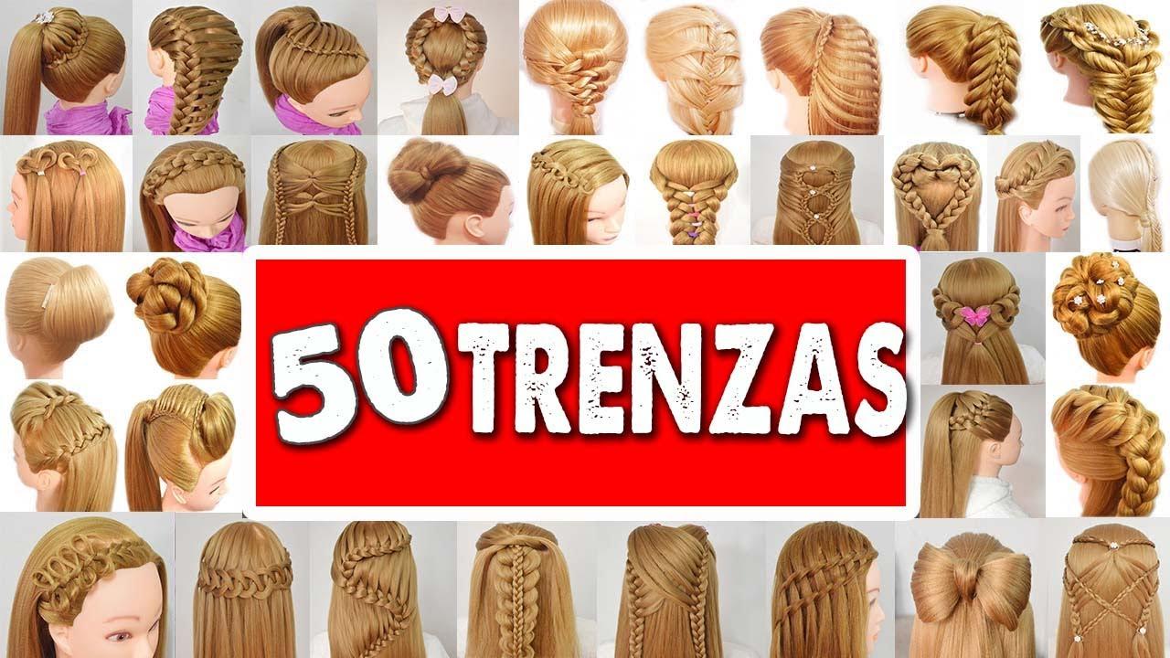 50 peinados faciles y rapidos con trenzas para este 2019 - Peinados fiesta faciles ...