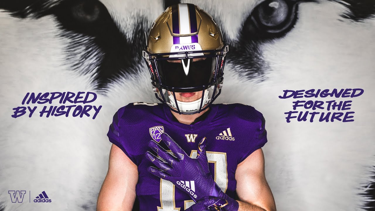 timeless design 87a3f e7a40 Washington Huskies Officially Unveil New adidas Football ...