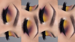 Spring makeup tutorial l Yellow purple eyeshadow