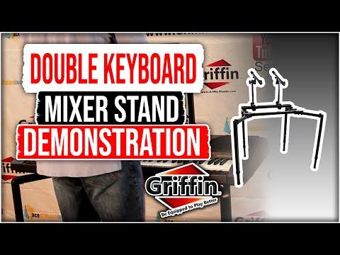 Griffin DJ Double Keyboard Mixer Stand Review and Product Demonstration Model AP3299