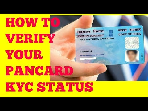 How to check pan card kyc status registered compliant HD