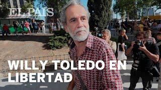 El actor WILLY TOLEDO sale en libertad tras prestar declaración ante el juez