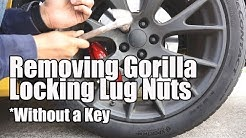 Removing Gorilla Locking lug nuts from my Procharged Scatpack. Without the key....