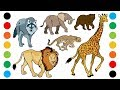 Wild Animals With Sounds Part1 Coloring Pages For