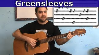 Tutorial: Greensleeves - Fingerstyle Guitar Lesson w/ TAB