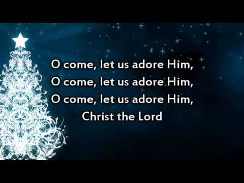O Come All Ye Faithful  Instrumental with lyrics