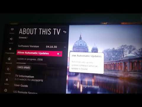 LG SMART TV 4K UK6360 UHD TV SOFTWARE UPDATE