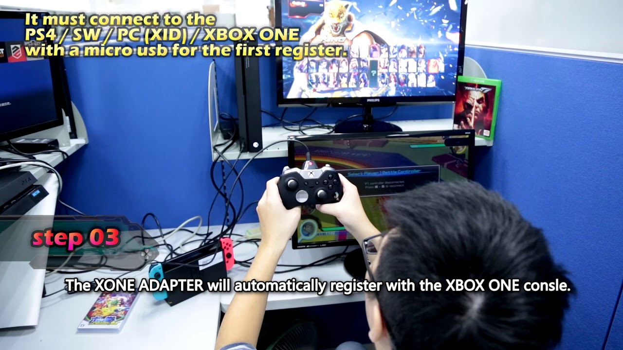 Brook X ONE Adapter - XBOX ONE to Switch PS4 XBOX ONE and PC