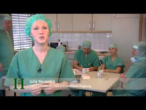Arbeiten im OP-Team am HELIOS Klinikum Siegburg