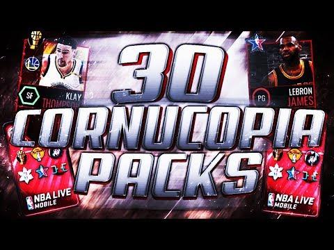 x30 CORNUCOPIA PACKS IN NBA LIVE MOBILE \ TWO 96+ PULLS