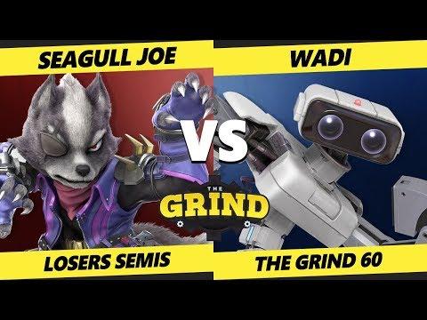 Smash Ultimate Tournament - WaDi (ROB) Vs. Seagull Joe (Wolf) SSBU The Grind 60 Losers Semis
