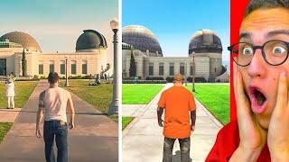 Reacting To GTA 5 vs. REAL LIFE!