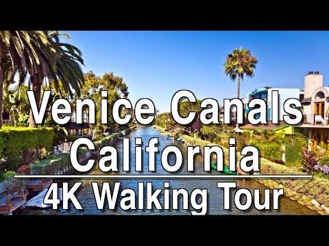 Walking Tour Venice Canals (LA) | 4k DJI Osmo | No Music