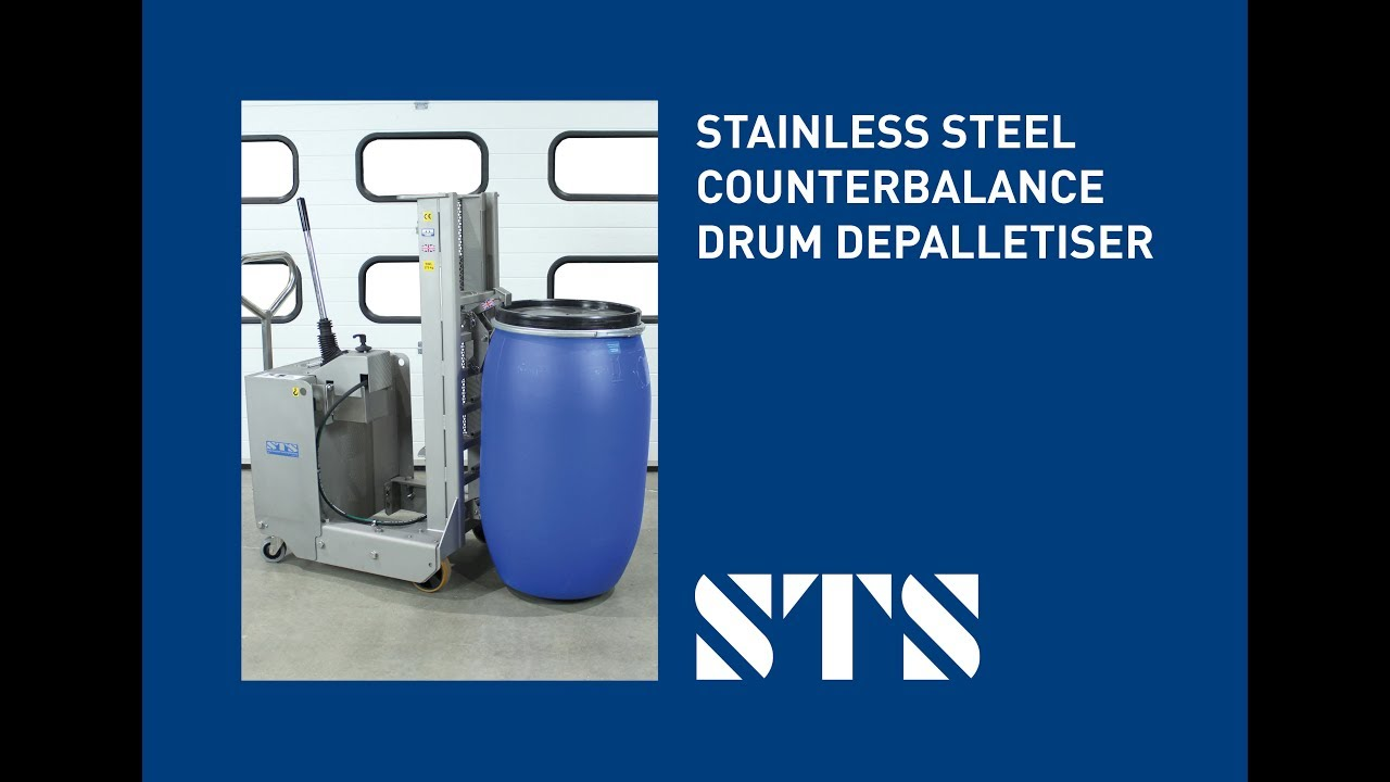 STS - ATEX Stainless Steel Counterbalance Drum Depalletiser, Drum Lifter (Model: DTP08-SS)