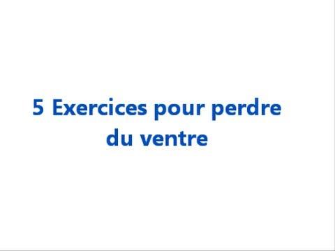 serie d exercice pour perdre du ventre