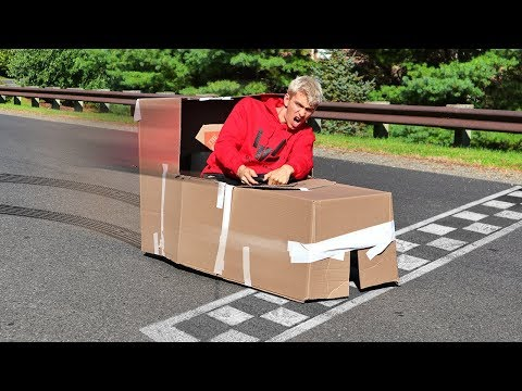 Download Youtube: BOX FORT RACE CAR!!