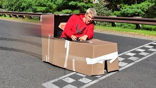 BOX FORT RACE CAR!!