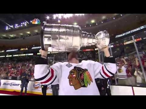 Andrew Shaw is Fucking Excited to hoist the 2013 Stanley Cup 6/24/2013