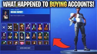 RIP 'RARE' ACCOUNTS... (Fortnite)