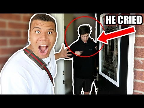 SURPRISING MY BIGGEST FAN AT HIS HOUSE!! *EMOTIONAL*