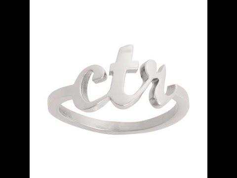 CTR Ring J102 Cursive Medium