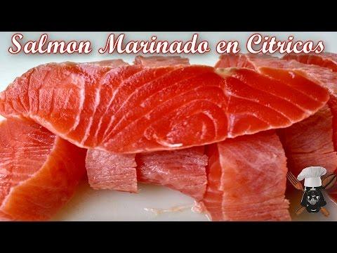 Salmon marinado en citricos | Con aceite y sal