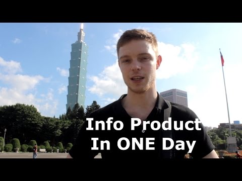 How To Create An Information Product In One Day