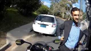 DX8284 Aggressive Driving, deliberately tries to hit motorcyclist. Canberra bad drivers.