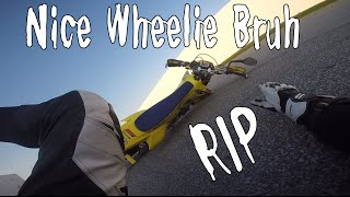 Wheelies for days on the new DRZ!