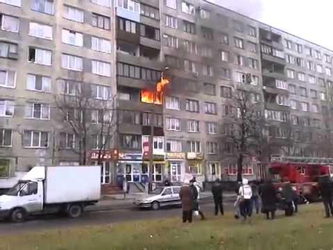 4.11.2014 Санкт-Петербург Возгорание на улице Белы Куна