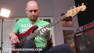 Improvised Bass Solo (Stranger Things) - Scott Devine /// Scotts Bass Lessons