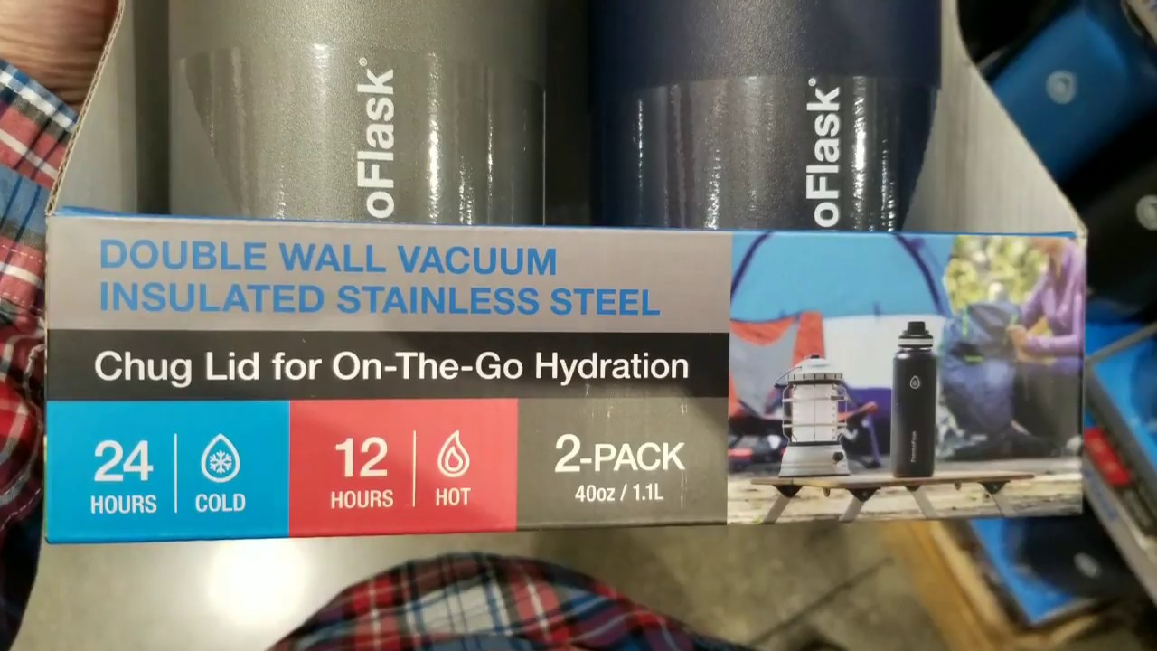 ccf6a86813 Costco! Thermo Flask 40 oz - 2 Pack! $24!!!! - YouTube