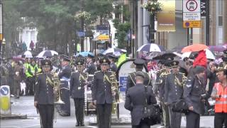 RAF Central Band and March Past ,Uxbridge High St,Middlesex.Mon. 22nd June 2015.